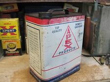 APEX OIL PRODUCTS CO FARM OILS MOTOR 2 GALLON CAN  LUBRICANT ORIGINAL 1940