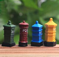 Mini Mailbox Micro Landscape Postbox Fairy Garden Décor Crafts Lawn Decorations