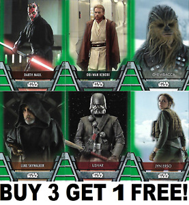TOPPS STAR WARS 2020 HOLOCRON SERIES GREEN PARALLEL CARDS 1-200 Buy 3 Get 1 Free