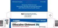 Perrigo Dibucaine Ointment 1% Hemorrhoidal & Topical Analgesic -Exp Date 06-2021
