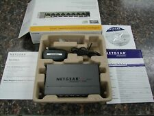 Open Box / Netgear ProSafe Gs108E v2 8-Port Gigabit Plus Ethernet Switch