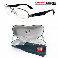RAY BAN SEMI RIMLESS UNISEX OPTICAL GLASSES FRAME GUNMETAL BLUE RAYBAN 6311 2620