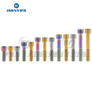 Titanium Socket Cap Head M8X20 25 30 35 40 45 60mm Bolts Allen Hex Bolt Screws