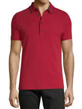 VALENTINO Maglia Red Summer  Cotton Polo Shirt Size XS Made in Portugal