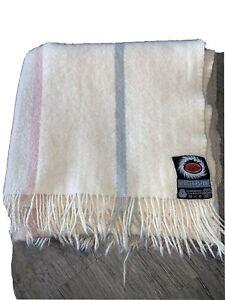 Berger Pledd 100% Pure New Wool Blanket Throw 40X60 Beige