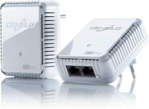 Devolo Powerline 09776 Heimnetzwerk LAN Kompakt Starter-Set 2 Adapter 500 Mbit/s