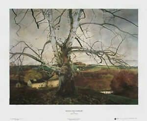 Pennsylvania Landscape, 1941 by Andrew Wyeth Art Print Lafayette Sycamore 24x30