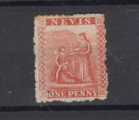 Nevis QV 1878 1d Vermillion Mint (Some Gum) JK2425