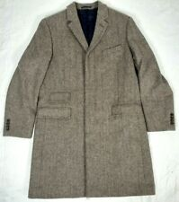 #266 J CREW MOON Cloth Ludlow Tweed Overcoat Coat Mens 44R Quilted Rayon Lining
