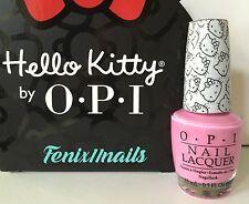 OPI HELLO KITTY NL H83 LOOK AT MY BOW! medium pink nail lacquer polish NEW RARE