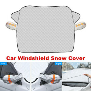 Car Windshield Snow Cover with 2 Layer Protection Winter Snow Dust Frost Guard