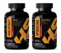 antioxidant complex - NONI Capusles – SPIRULINA - stem cell enhancer - COMBO