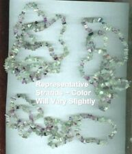 """Genuine Rainbow Flourite Multi-Color Endless Strand Chip Necklace Appx 36"""" NEW"""