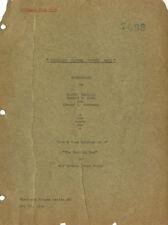 SHERLOCK HOLMES AND SECRET WEAPON VINTAGE 17 JUNE 1942 SCRIPT TYPED ONIONSKIN
