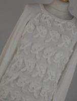 F&F White Floral Womens Jumper Size 10 (Regular)