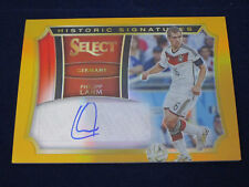 Panini Select 2015-16 Historic Signatures Card, Gold, Philipp Lahm, 5/5, HS-PL