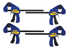 IRWIN QUICK-GRIP Clamps, One-Handed, Mini Bar, 6-Inch, 4-Pack 1964758