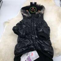 Pet Life 1BKXL  Black Metallic Fashion Pet Parka Coat X-Large
