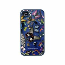 COQUE IPHONE 4 4S CHRISTIAN LACROIX BUTTERFLY BLEU SILICONE RIGIDE (TPU)
