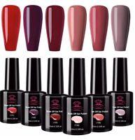 Makartt Gel Nail Polish Set Soak Off UV LED Nail Gel Polish Red Nail Polish Pink