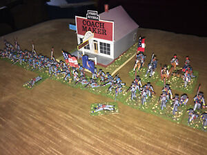 53 Painted 1/72 Civil War Confederate 11th Virginia Infantry w Artillery &