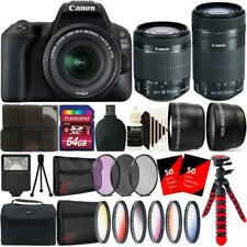 Canon EOS 200D 24.2MP DSLR Camera with 18-55mm and 55-250mm Lens Accessory Kit