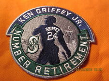 Ken Griffey Jr. Seattle Mariners Number Retirement 2 Player Milestone Patches