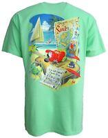 Mens Cotton Live Life Like a Classic Song T-Shirt Mint Green Beach Jimmy Buffett