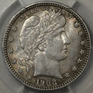 1908-S Barber Quarter PCGS & CAC AU-58! Semi-Key Date and Undervalued!