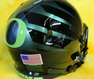 Oregon Ducks super custom fullsize football helmet Riddell Lg/XL color shift