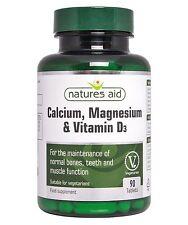Calcio, magnesio y vitamina D3 X 90 Tabs-Natures Aid