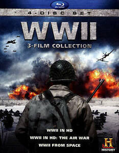 WWII 3 Film Blu-ray Collection /  4 Disc Set Blu-ray HD / History Channel TV NEW