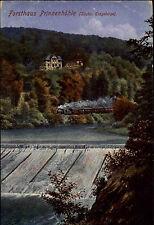 Zug am Forsthaus Prineznhöhle Feldpostkarte 1916 mit Stempel STEIN Erzgebirge