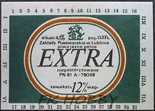 Poland Brewery Lublin Extra Beer Label Bieretikett Etiqueta Cerveza lu45.1
