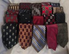 Mens DESIGNER Silk Neck Ties Neckties Lot of 16  Many Styles Patterned Duck Lion