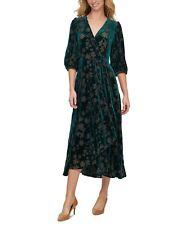 Calvin Klein NWT MALACHITE GREEN Velvet Surplice Maxi Dress, size 4