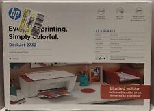 NEW HP DeskJet 2732 Wireless All in One Color Inkjet Printer Instant Ink