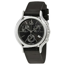 Calvin Klein Skirt Black Dial Black Leather Ladies Watch K2U291C1