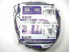 RG59 COAXIAL CABLE 20AWG 100FT RoHS Compliant NEW! SR