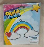 Makit & Bakit Window Suncatcher/Stained Glass Look Craft Kit-Rainbow/Heart/Cloud