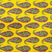 """Pure Cotton Fabric Paisley Printed 42"""" Wide Yellow craft Material By The Metre"""