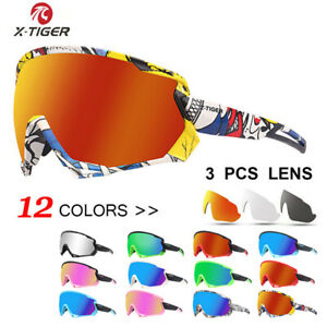 2020 New Polarized Cycling Sunglasses Bike Glasses Goggles with 3 Lens