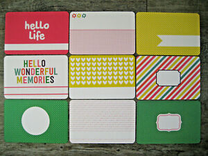 """'CONFETTI' PROJECT LIFE CARDS  -  pack of 9 - 6"""" x 4"""""""
