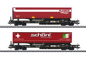 Märklin H0 47115 Taschenwagen-Set Schöni / Planzer der Hupac - NEU + OVP