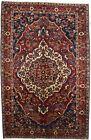 Floral Design Vintage Handmade 7X11 Farmhouse Oriental Rug Home Decor Carpet