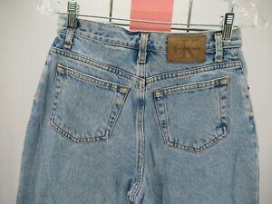 M4617 VTG Calvin Klein Women's  Double Stone Wash High Rise Denim Shorts 16