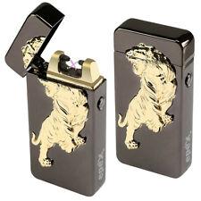 Arco Dual 3D de León USB Eléctrica Sin Llama Antorcha Recargable a prueba de viento más ligero