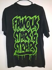 Famous Stars And Straps Graphic T-shirt Green And Black Medium