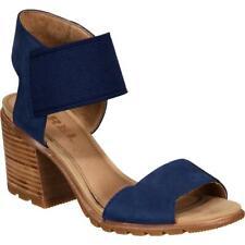 Sorel Womens Nadia Blue Suede Heel Sandals  Shoes 8.5 Medium (B,M) BHFO 9346