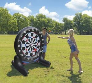 HUGE Outdoor 5 FT Airblown Inflatable Yard Supersized Dart Board Game Set NEW